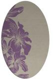 rug #760957   oval purple rug