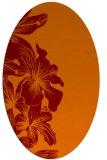 rug #760965   oval orange popular rug