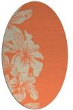 rug #760973 | oval orange rug