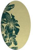 rug #760981 | oval yellow rug
