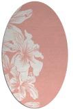 rug #760997 | oval pink natural rug