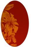 rug #761021 | oval orange natural rug