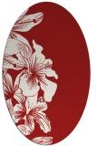 rug #761025   oval red natural rug