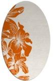 rug #761045 | oval red-orange natural rug