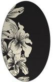 rug #761085 | oval black natural rug