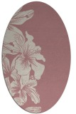 rug #761117 | oval pink natural rug