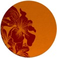 rug #761669 | round red-orange natural rug