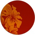 rug #761725 | round red natural rug