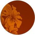 rug #761737 | round red-orange natural rug