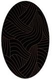 rug #764305 | oval brown rug