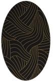 rug #764309 | oval brown rug