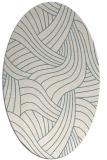 rug #764313 | oval white abstract rug