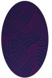 rug #764317 | oval blue abstract rug