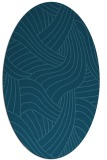 rug #764337 | oval blue-green abstract rug