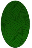rug #764357 | oval green abstract rug