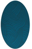 rug #764369 | oval blue abstract rug