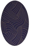 rug #764397 | oval beige abstract rug