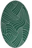 rug #764421 | oval green abstract rug