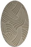 rug #764429 | oval white abstract rug