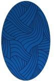 rug #764457   oval blue abstract rug