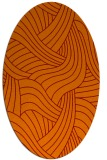 rug #764477 | oval red-orange abstract rug
