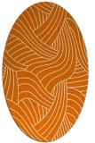 rug #764481 | oval orange abstract rug