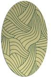 rug #764493 | oval blue-green popular rug
