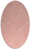 rug #764509   oval white abstract rug