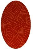 rug #764533 | oval orange rug