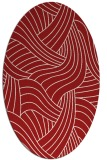 rug #764537   oval red popular rug