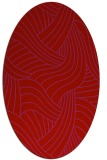 rug #764541 | oval red abstract rug