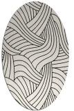 rug #764561 | oval white abstract rug