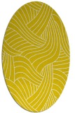 rug #764589 | oval white abstract rug