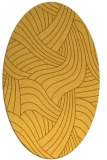rug #764593 | oval yellow abstract rug