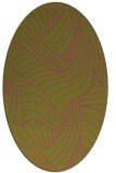 rug #764617 | oval light-green rug