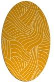 rug #764625 | oval light-orange abstract rug