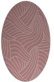 rug #764629   oval pink abstract rug