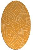 rug #764637 | oval white abstract rug