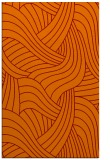 rug #764825 |  orange abstract rug