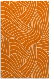 rug #764829 |  orange abstract rug