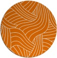 rug #765177 | round orange abstract rug
