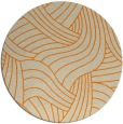 rug #765301 | round orange abstract rug