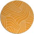 rug #765333 | round light-orange abstract rug