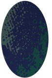 rug #767829 | oval blue rug
