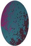 rug #767861 | oval pink animal rug