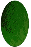 rug #767865 | oval green animal rug