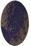 rug #767905 | oval blue-violet animal rug