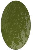 rug #767921   oval green animal rug