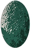 rug #767929   oval green animal rug