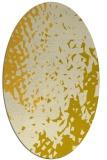 rug #768085 | oval yellow animal rug